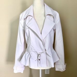 Jackets & Blazers - NEW Asymmetrical Closure White Women JACKET Blazer